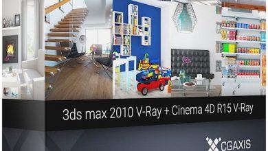 دانلود صحنه سه بعدی تری دی مکس سینمافوردی CGAxis 3D Interiors Volume 1