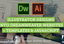 Photo of Adobe Dreamweaver CC Web Design from Adobe Illustrator Mockups