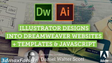 آموزش Skillshare – Adobe Dreamweaver CC Web Design from Adobe Illustrator Mockups