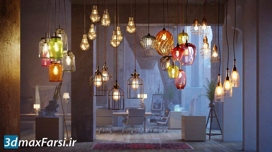 آبجکت لامپ و روشنایی سقف Archmodels Vol 184