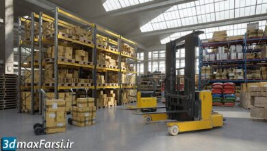 مدل سه بعدی کارخانه انبار Evermotion – Archmodels Vol 200