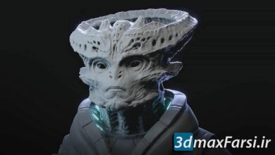 آموزش بلندر FlippedNormals – Sculpting an Alien in Blender 2.8