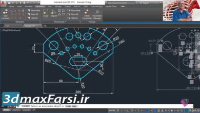 آموزش اتوکد Udemy – Advanced AutoCAD 2021 : Parametric Drawing
