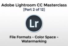 تصویر آموزش لایت روم File Formats, Color Space, Watermarking
