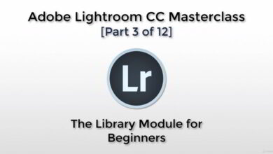 تصویر آموزش لایت روم Adobe Lightroom CC – The Library Module for Beginners
