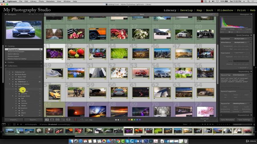 اسلاید شو  لایت روم Adobe Lightroom CC - The Slideshow Module for Beginners