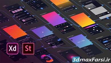 آموزش پروژه محور طراحی رابط کاربری تجربه کاربری Udemy – Adobe XD: UI & UX Design with 8 real world project 2020
