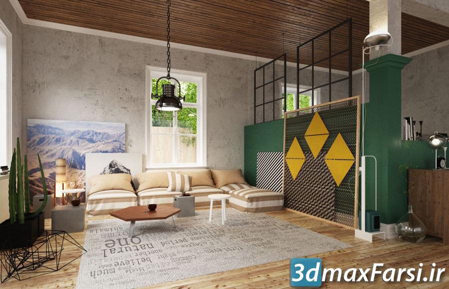 دانلود رایگان مجموعه آرچ مدل 174 : ست مبلمان نشیمن مدرنEvermotion – Archmodels Vol 174 download furniture sets models