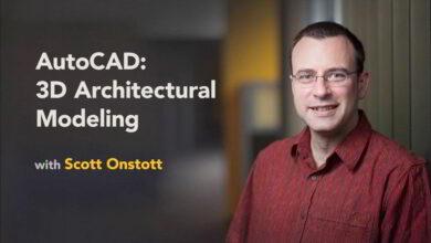 آموزش مدلسازی سه بعدی اتوکد AutoCAD 3D Architectural Modeling
