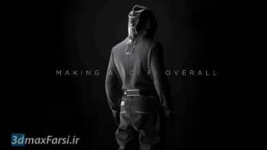 تصویر آموزش طراحی لباس making a sci fi overall in marvelous designer 6.5