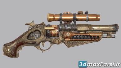 FlippedNormals – Steam punk Gun Game Asset in Blender Tutorial