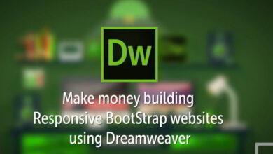 آموزش Udemy – Make money Building Responsive Bootstrap websites using Dreamweaver