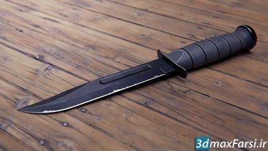 آموزش مدلسازی چاقو Combat Knife 3D Game Asset in Blender and Substance Painter