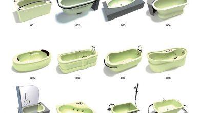 آرچ مدل Archmodels vol.15 : مدل سه بعدی وان حمام