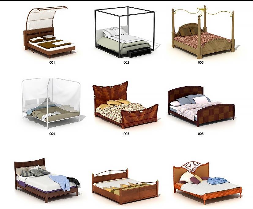آرچ مدل Archmodels vol.37 : آبجکت تخت خواب تری دی مکس