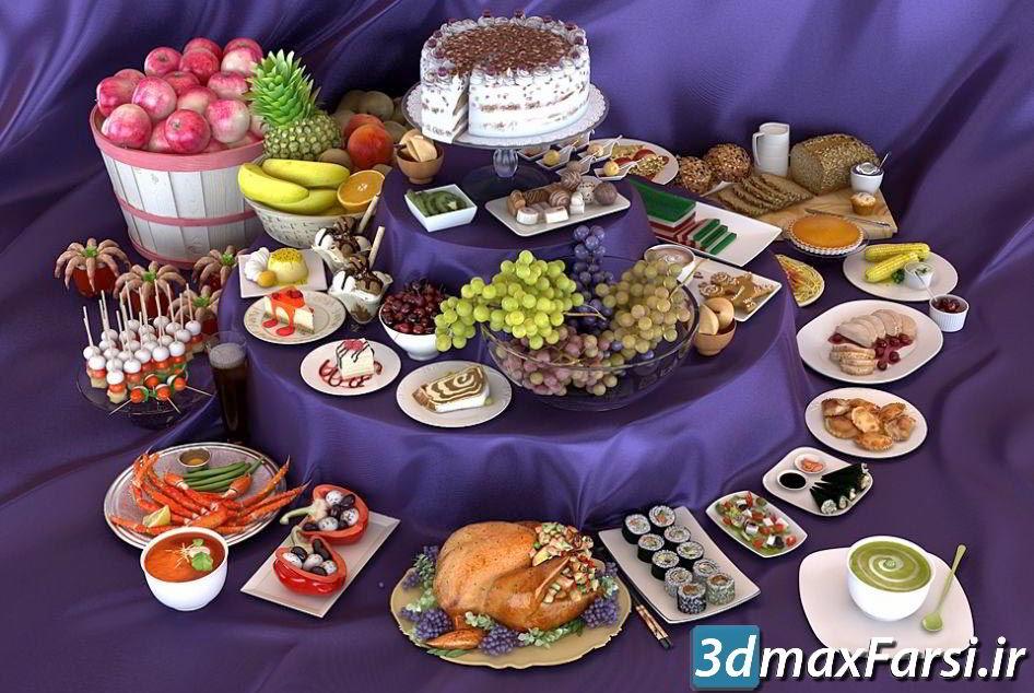 آرچ مدل Archmodels vol.76 : مدل سه بعدی غذا میوه شیرینی