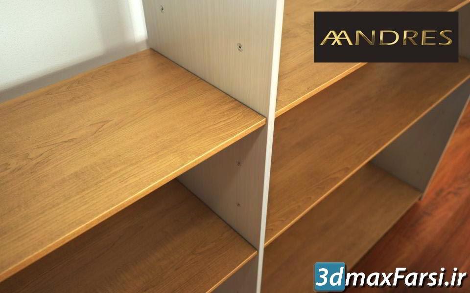 آرچ مدل Archmodels vol.80 : مدل سه بعدی قفسه مدرن و کلاسیک مینیمال