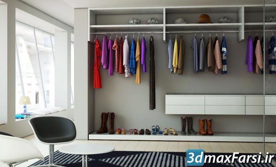 دانلود رایگان آرچ مدل Archmodels vol.102 : مدل سه بعدی پوشاک بوتیک (کمد لباس ، کفش ، کلاه ، فرش)