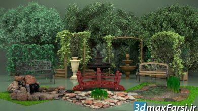 دانلود رایگان آرچ مدل Archmodels vol.105 : مدل سه بعدی باغ