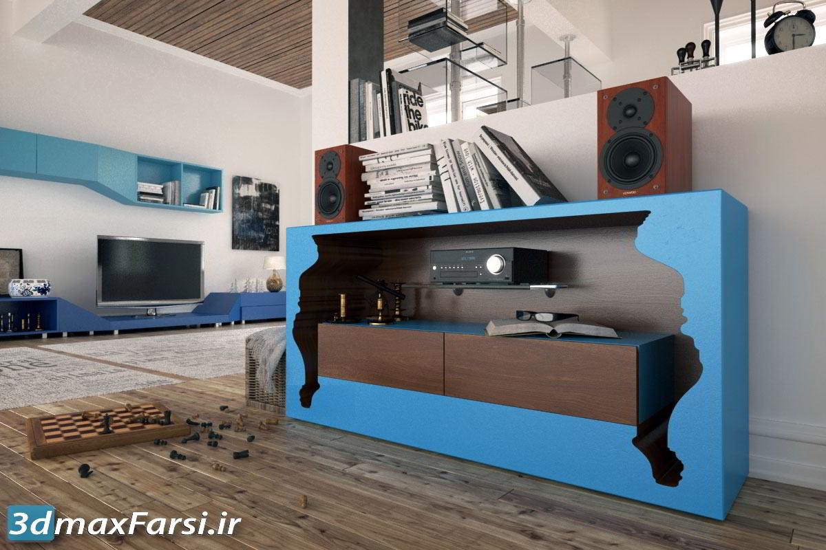 دانلود Evermotion – Archmodels Vol. 144 : living room furniture appliances