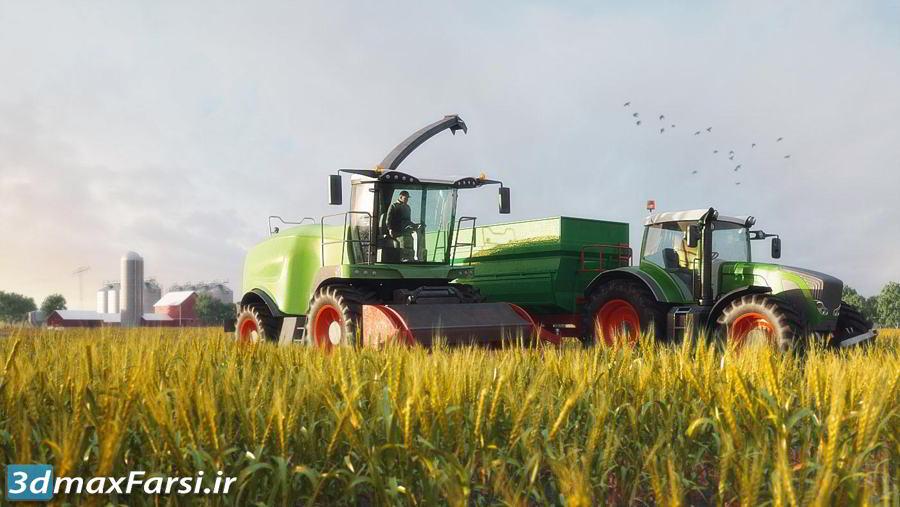 آرچ مدل Archmodels vol.146 : مدل سه بعدی ماشین آلات کشاورزی تری دی مکس