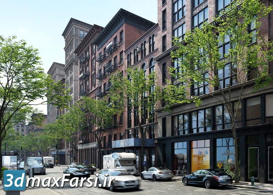آرچ مدل Archmodels vol.215 : مدل سه بعدی ساختمان به سبک نیویورک