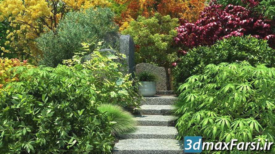 دانلود رایگان آرچ مدل Archmodels vol.61 : مدل سه بعدی درخت گیاهان باغ ، بوته