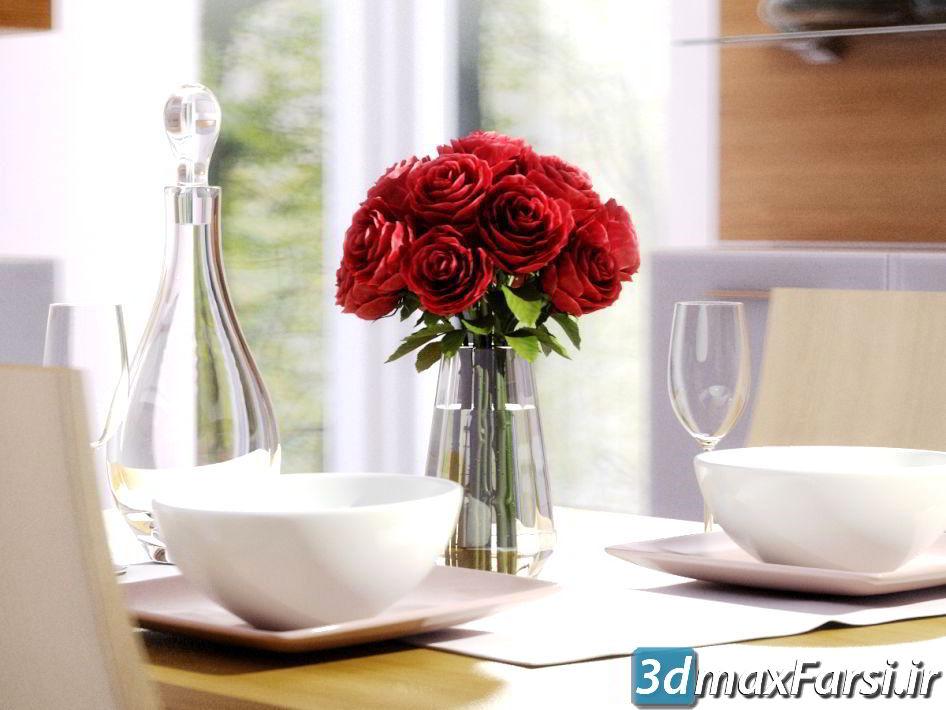 دانلود رایگان آرچ مدل Archmodels vol.66 : مدل سه بعدی گل و گلدان تزئینی