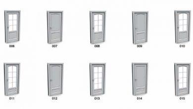 آرچ مدل Archmodels vol.4 : مدل سه بعدی درب پنجره سه بعدی