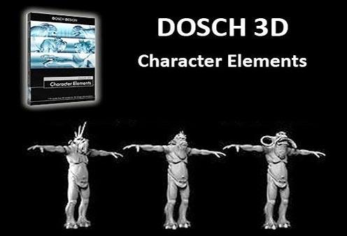 مدل سه بعدی المنت های کاراکتر DOSCH Design 3D Character Elements