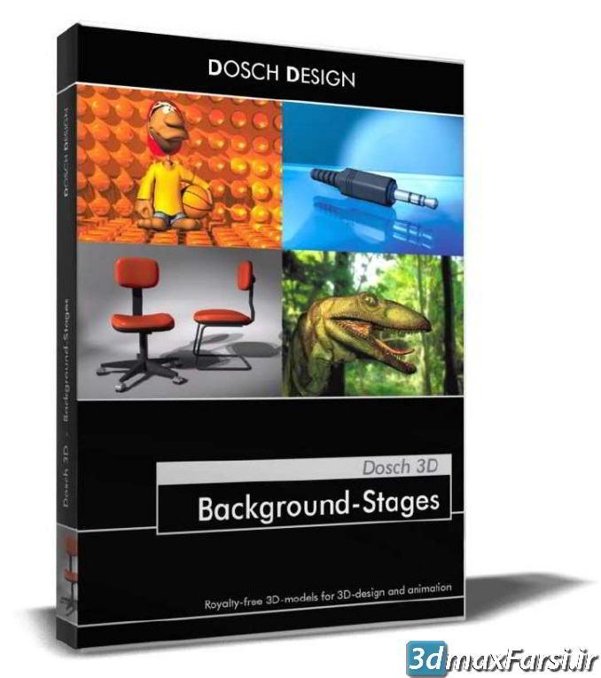 دانلود بکگراند استودیویی DOSCH 3D: Background-Stages