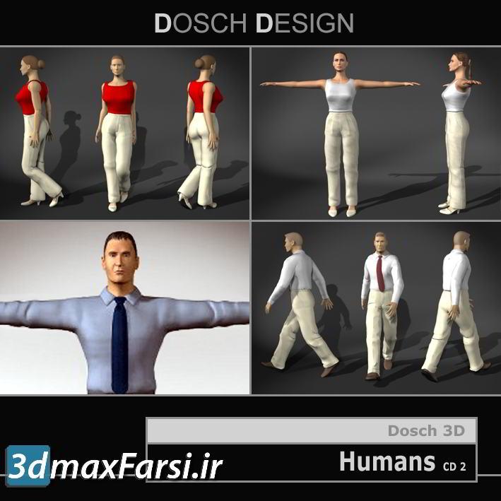 دانلود پرسوناژ انسان Dosch 3D Humans