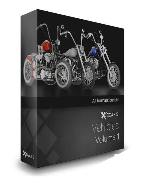 مدل سه بعدی متور سیکلت CGAxis 3D Vehicles Volume 1