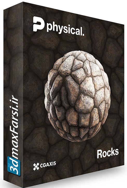 دانلود متریال سنگ صخره CGAxis – PBR Textures Collection Volume 19 – Rocks