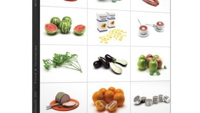 مدل سه بعدی مواد غذایی DOSCH 3D: Food & Groceries