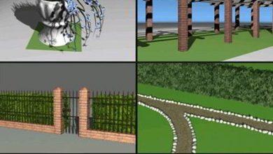 مدل سه بعدی طراحی باغ Dosch 3D: Garden Designer