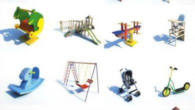 دانلود آبجکت بازی کودک مهدکودک اسباب بازی Dosch 3D: Kid's Playground