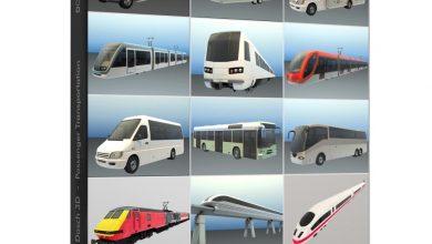 دانلود رایگان مدل سه بعدی ماشین حمل و نقل Dosch 3D: Passenger Transportation