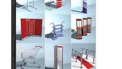 مدل سه بعدی فروشگاه مواد غذایی Dosch 3D: Shop Design