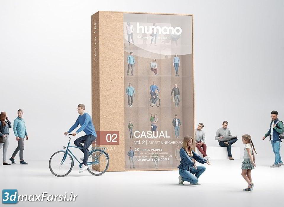 دانلود رایگان کالکشن انسان Humano 3D People Vol. 02 Casual