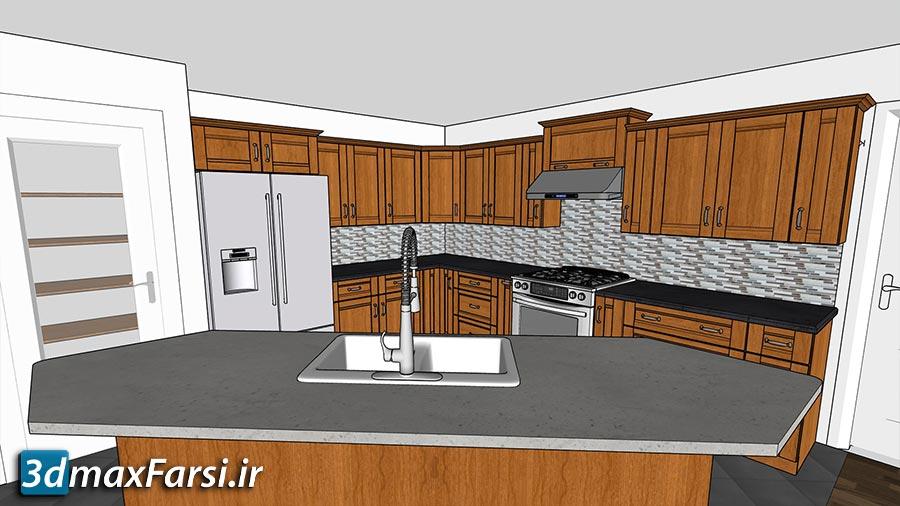 آموزش طراحی کابینت آشپزخانه اسکچاپ SketchUp Pro: Kitchen Design