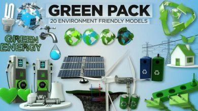 مدل سه بعدی انرژی سبز The Pixel Lab – 3D Green Pack