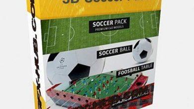 مدل سه بعدی ورزشی سینمافوردی The Pixel Lab – 3D Soccer Pack