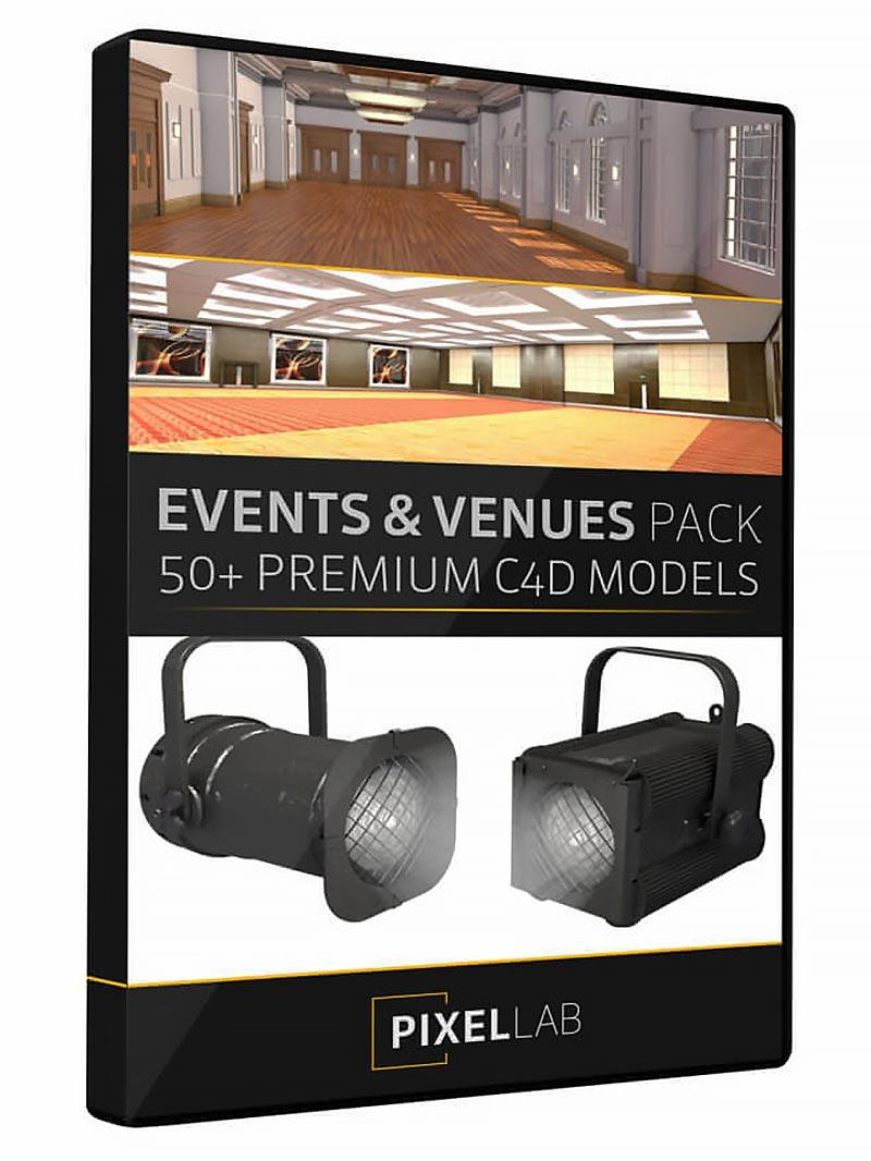 مدل سه بعدی سینمافوردی The Pixel Lab – Events & Exhibitions Pack