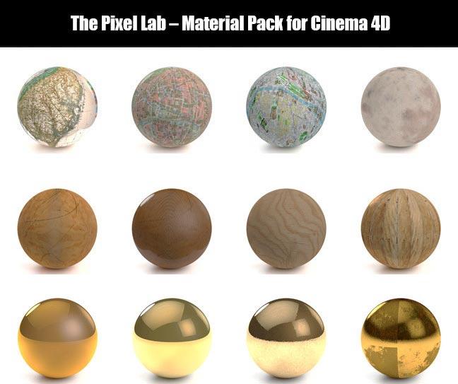 پکیج متریال سینمافوردی The Pixel Lab – Material Pack for Cinema 4D