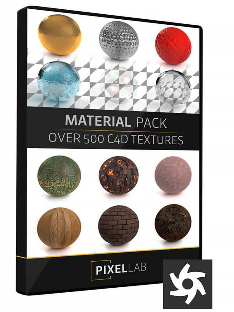 دانلود The Pixel Lab Material Pack for Octane Cinema 4D