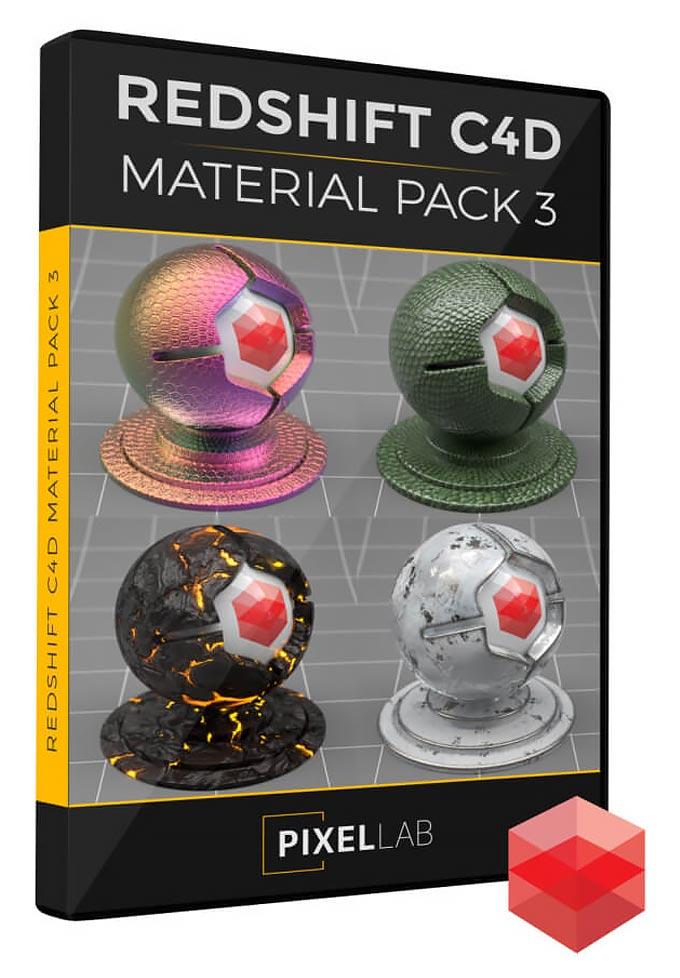 دانلود The Pixel Lab – Redshift C4D Material Pack 3