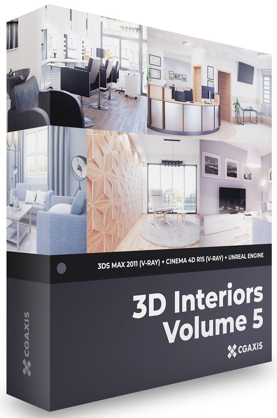 دانلود رایگان فایل دکوراسیون داخلی 3D Interiors – CGAxis Collection Volume 5