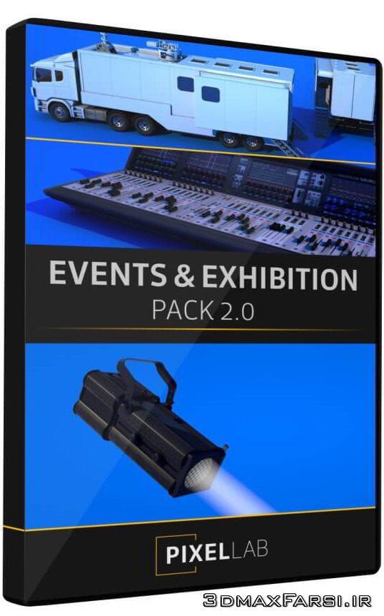 مدل سه بعدی نمایشگاه روباز The Pixel Lab – Events & Exhibition Pack 2.0