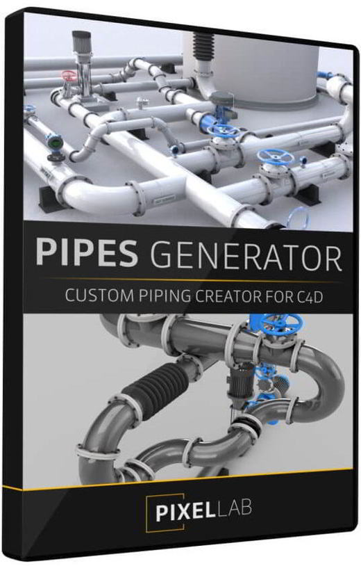 پلاگین سینمافوردی The Pixel Lab – Announcing the Pipes Generator for Cinema 4D